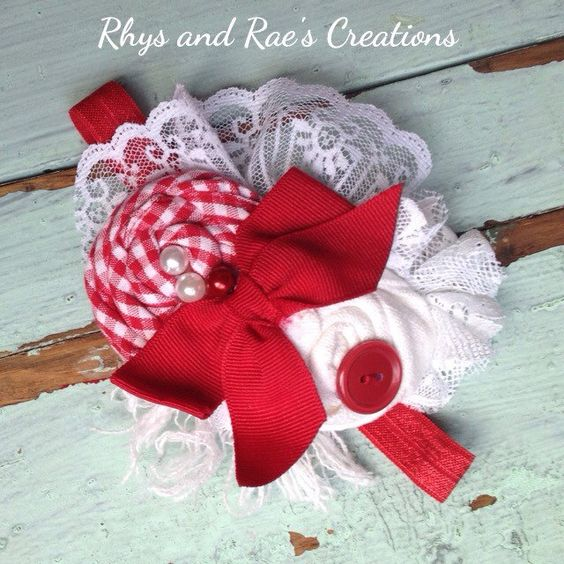 A personal favorite from my Etsy shop https://www.etsy.com/listing/244287298/pink-fabric-flower-headband-girls-pink