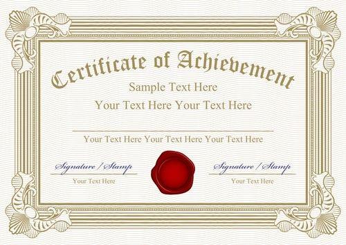 Certificate Design Templates Psd Free Download Vector