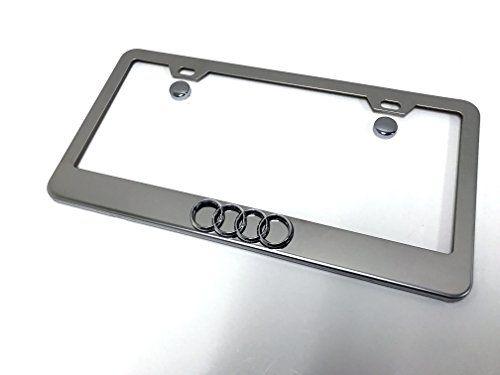 Toyota Corolla Logo License Plate Standard Frame Black Powder Stainless Steel