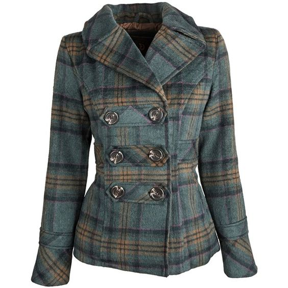 Dollhouse Womens Classic Wool Blend Dressy Winter Pea Coat with... ($6.50) ❤ liked on Polyvore featuring outerwear, coats, jackets, coats & jackets, peacoat coat, pea jacket, plaid peacoat, tartan coat and dollhouse coats