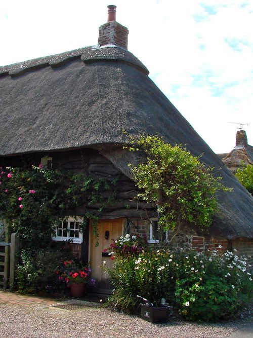 The cottage my ancestors and doors on pinterest - The thatched cottage ...