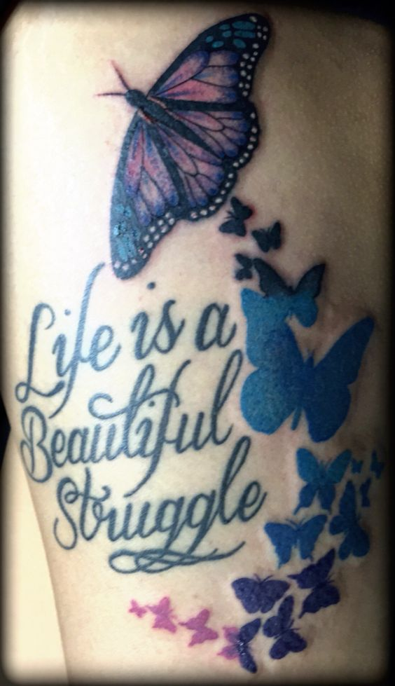 Butterfly. Butterflies vector. Life is a beautiful struggle. Work done by Miss Trish. One of San Diego's tattoo artist.