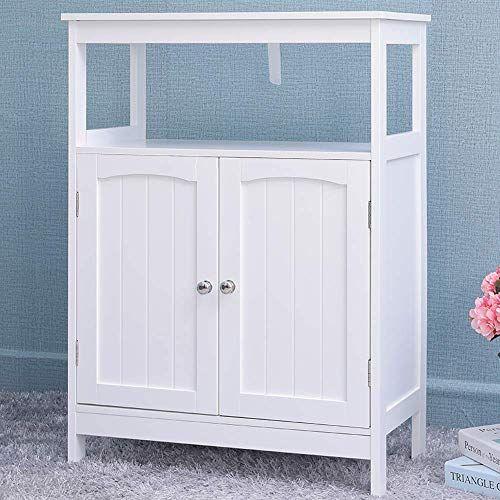 New Iwell Bathroom Floor Storage Cabinet 1 Adjustable Shelf 3