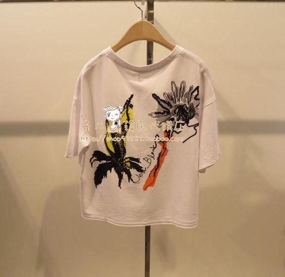 """스타 아이 """"〓VOV ★ 여름 모델을 구입 한국어 카운터 예쁜 캐주얼 셔츠 71162-40461〓AV1935- Taobao의 글로벌 역"""