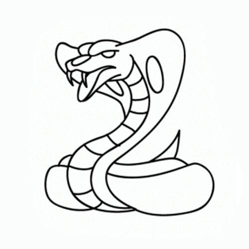 Como Dibujar Una Cobra Facil Paso A Paso Como Dibujar Como Dibujar Animales Aprender A Dibujar Animales
