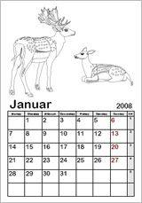 Ausmalkalender-Vorlagen - Kinderkalender 2015 zum Ausmalen Online Ausdrucken Basteln