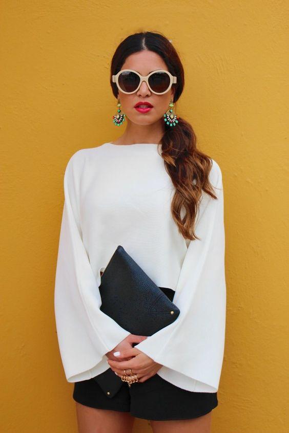 GiGi New York | Negin Mirsalehi Fashion Blog | Black Pebble Uber Clutch
