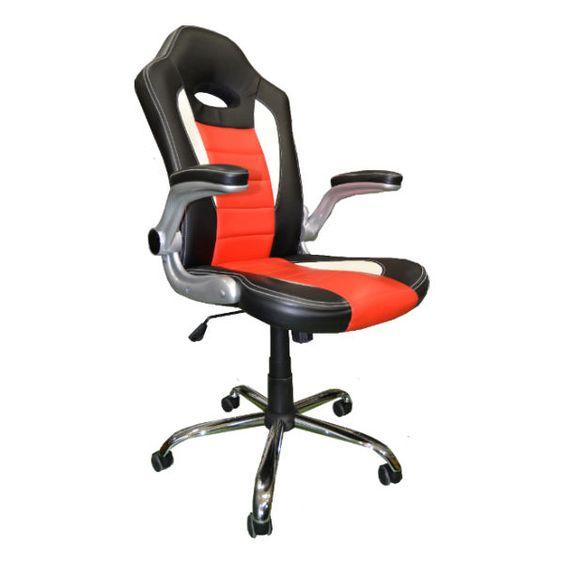 Silla para escritorio de dise o deportivo racing for Silla escritorio diseno