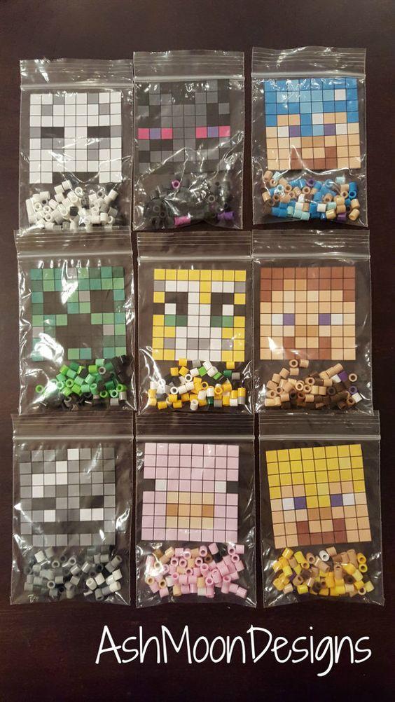 Minecraft Perler Bead DIY Kits by AshMoonDesigns on Etsy