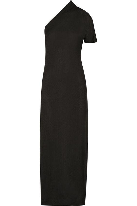 LANVIN One-Shoulder Crepe Gown. #lanvin #cloth #gown
