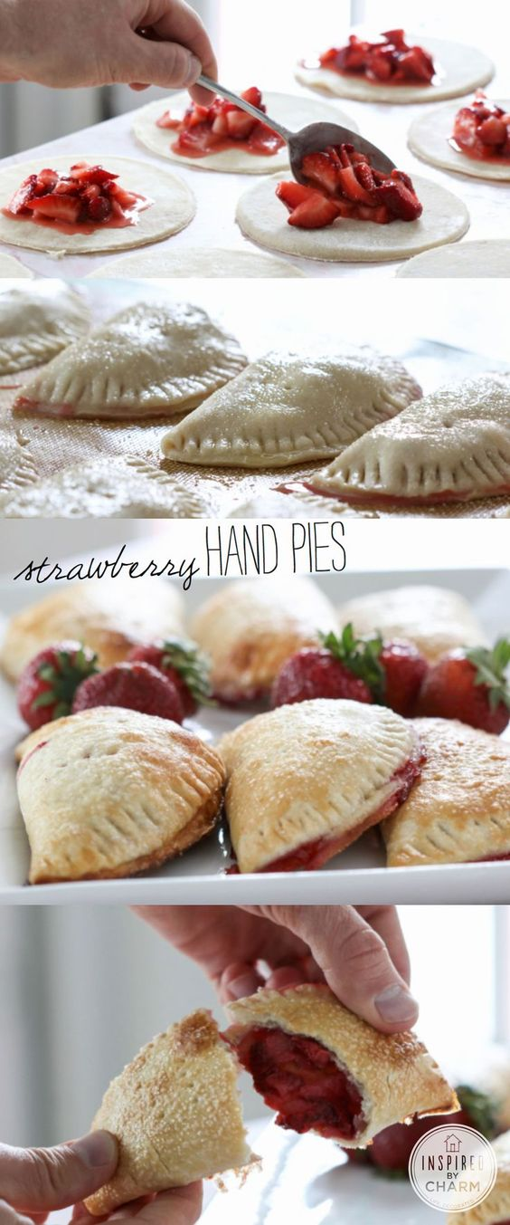 Strawberry hand pies, Hand pies and Strawberries on Pinterest