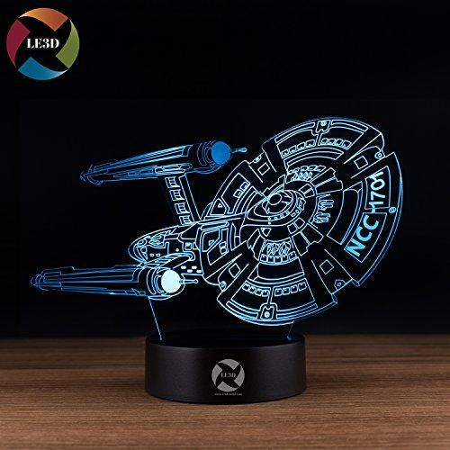 Le3d 3d Optical Illusion Desk Lamp 3d Optical Illusion Night Light 7 Color Led 3d Lamp Star Trek 3d Le 3d Optical Illusions Optical Illusions Star Trek Gifts
