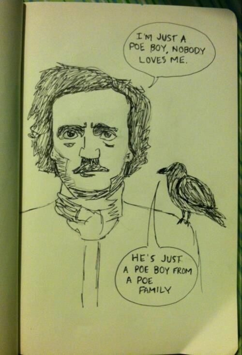 Jokes about Poe  #jokes #writing #Poe #books #quotes #famous