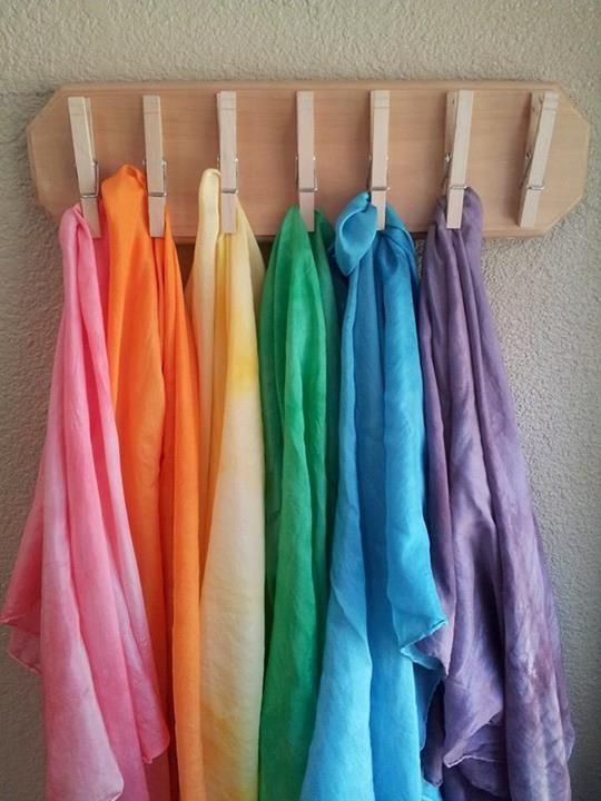 Pañuelos Waldorf arcoíris