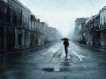 Fondo artístico sobre tormentas