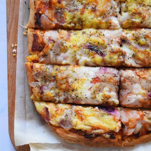 Pizza Casera De Cebolla Receta Curry De Garbanzos Pizza Casera Masa Para Pizza