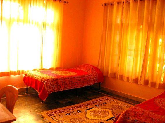 Our ashram accommodation in Kullu Valley