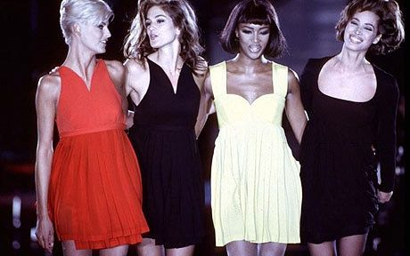 The super model was created..... On the Versace catwalk