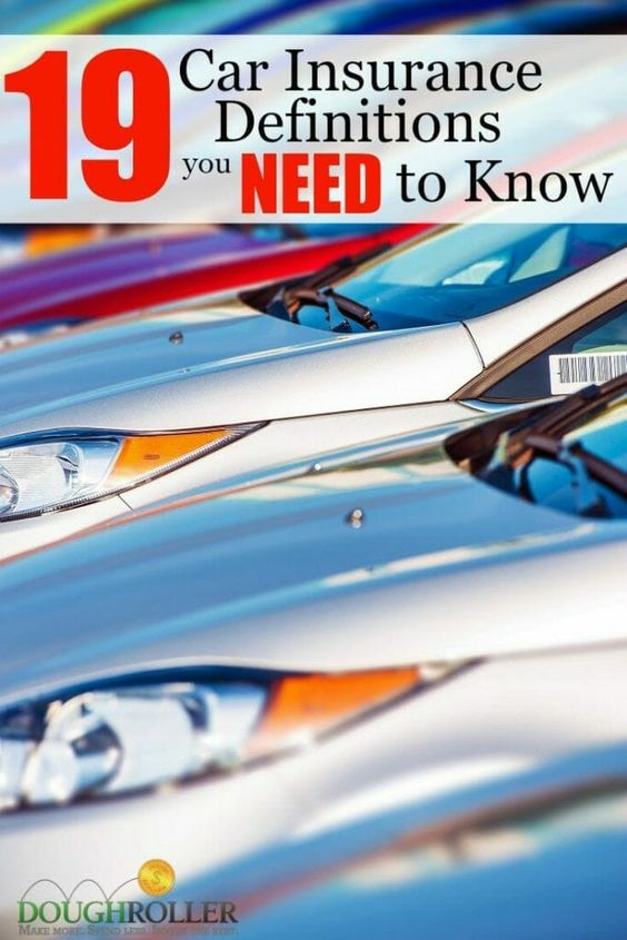 19 Car Insurance Terms You Need To Know Cheap Car Insurance