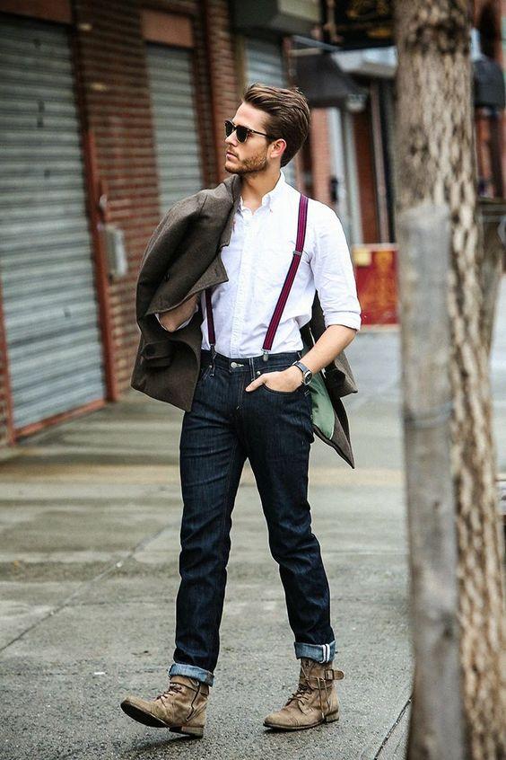 Denim Jeans and Braces | Menswear Street Style: