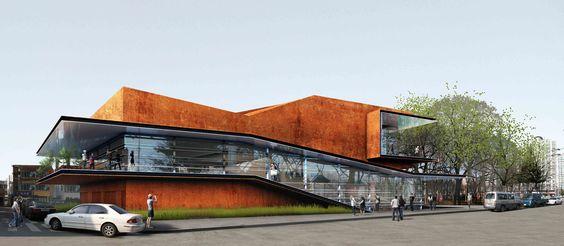 Daegu Gosan Public Library Competition Entry / Martin Fenlon ...