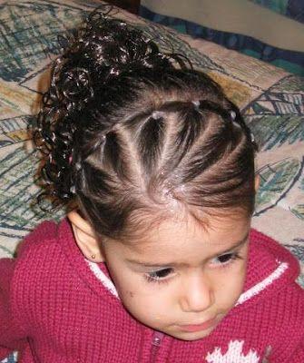 Fan type Hairstyle