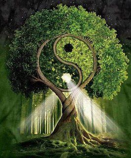 the tree of life and yin-yang is the sign of peace and hope for all,the bond of life