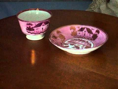 pink luster ware | pink lusterware pink luster lustre ware tea bowl cup and high lipped ...