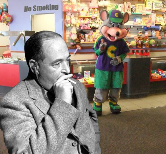 C. S. Lewis at Chucky Cheese.