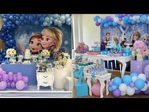 تصميمات رائعة لحفلات فروزن السا آنا Ideas For Frozen Elsa Anna Parties Birthdays Youtube Frozen Elsa And Anna Elsa Frozen Birthdays