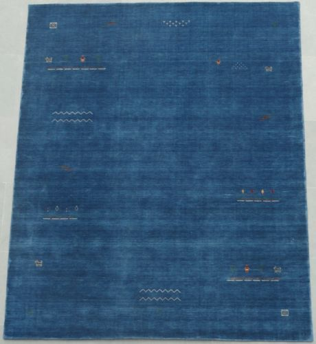 Contemporary Pictorial Blue Handwoven Wool Modern Persian Gabbeh Rug In Home Garden Rugs Carpets Area Ebay