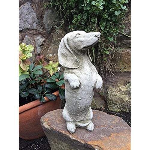 Stone Dachshund Sausage Dog Garden Ornament Statue Affiliate