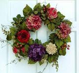 Cottage Rose Wreath