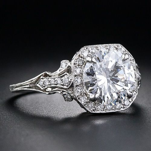 Antique engagement rings! LOVE