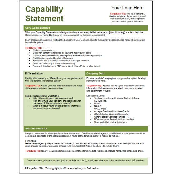ExampleCapabilityStatementFreeTemplateJpg   Sample