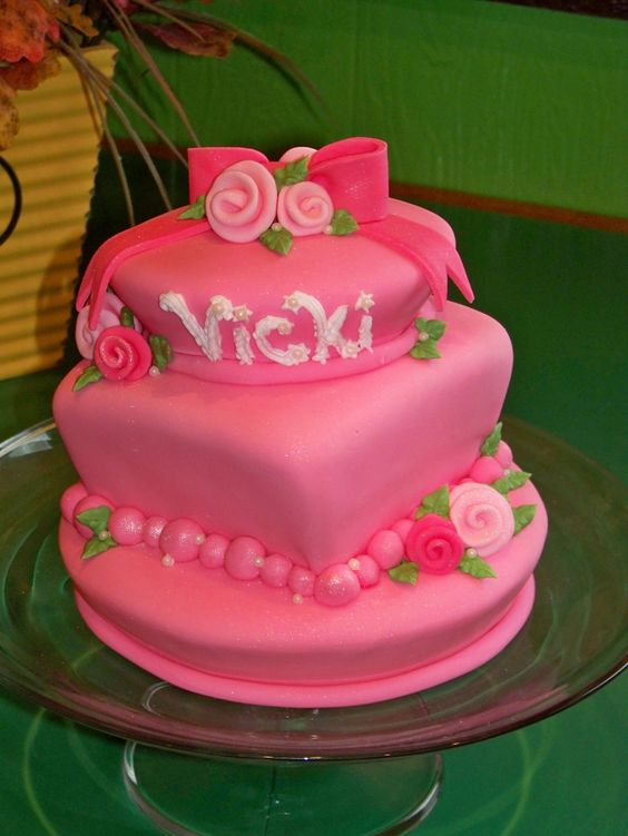 Birthday Cake Images With Name Vicky : Happy Birthday Vicky Cake message happy birthday vicky ...