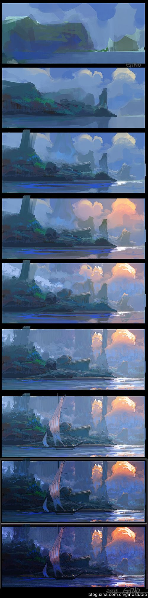 Really cool landscape art step by step drawing really cool landscape art step by step drawing pinterest landscaping tutorials and digital art baditri Images