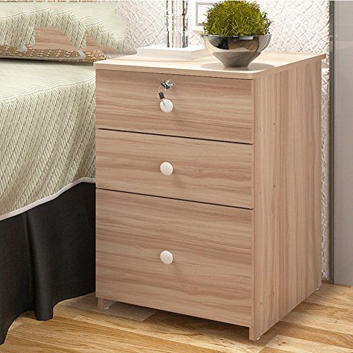 Gfyrhcgdfhjdgvf Modern Simple Bedside Cabinet Solid Wood Lock