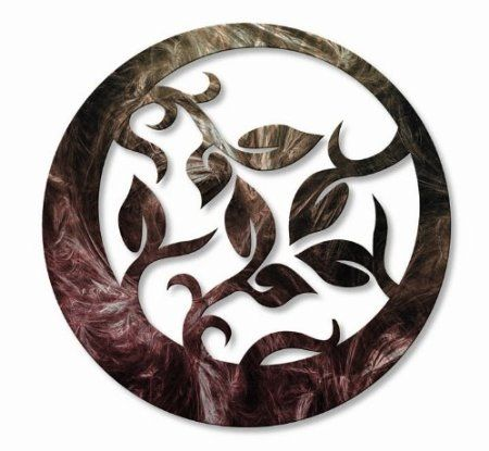 """Amazon.com: """"Elliptical Branchlets II"""" Contemporary Metal Wall Decor - Unique Artwork - Modern Painting, Abstract Wall Sculpture: Home & Kitchen"""