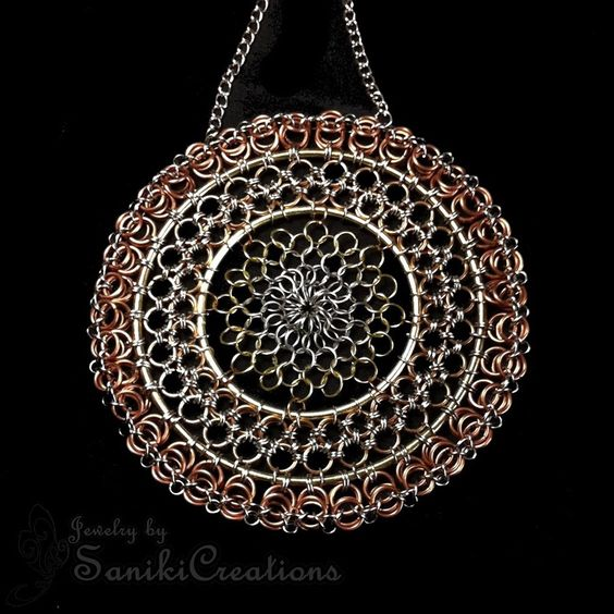Chainmaille Suncatcher Wall Decor