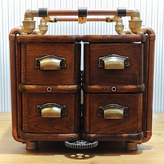 Steampunk furniture designs for rustic interiors steam for What is steampunk design
