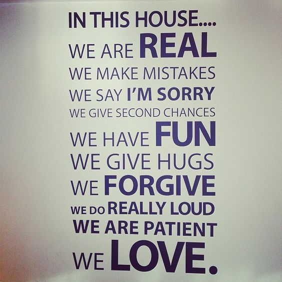 In this house....