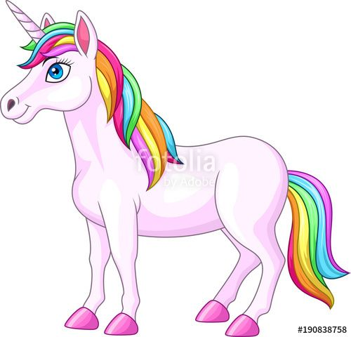 Cartoon Rainbow Unicorn Horse By Tigatelu Unicorn Horse Unicorn