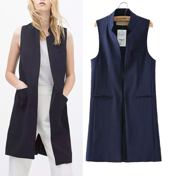 >> Click to Buy << Spring And Summer Female Basic Waistcoat Woman Street Cool Suit Vest Medium Long Fashion Plus Size Outerwear Weskit #Affiliate