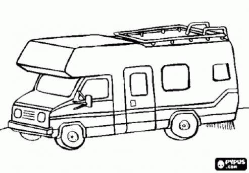 Rv Coloring Pages Campervan Or Motorhome Coloring Page Kidswoodcrafts Coloring Pages Camping Coloring Pages Colouring Pages