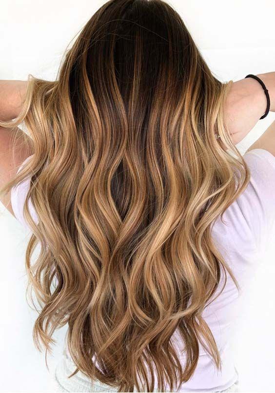 56 Sweet Caramel Balayage Hair Color Ideas in 2018