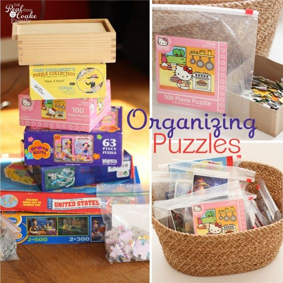 I love Organizing tips like this on how to quickly and simply organize puzzles!