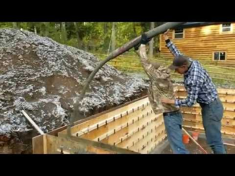 Concrete Foundation Walls Using Snap Tie Forms Concrete Diy Concrete Forms Concrete