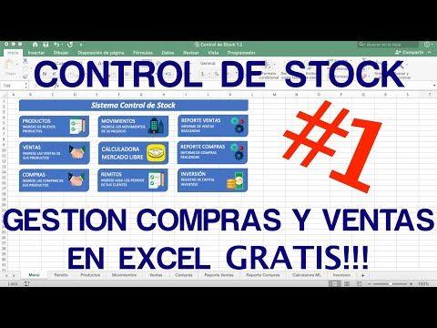 Control De Stock Y Gestion De Compras Y Ventas En Excel 100 Funcional Youtube Contaduria Y Finanzas Cursos Para Emprendedores Libros De Informatica