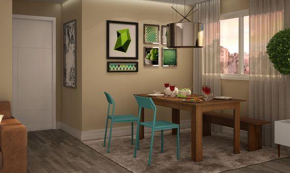 """""""O banco na sala de jantar definitivamente veio para ficar"""", diz Andressa Savi. #decoração"""